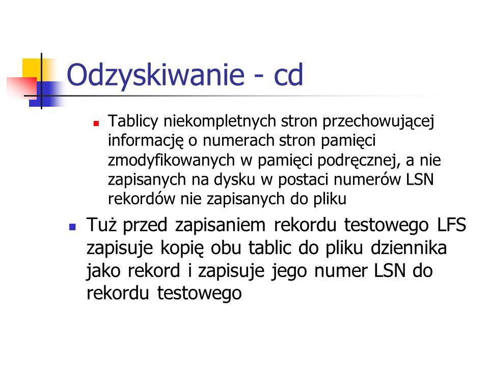 Odzyskiwanie - cd