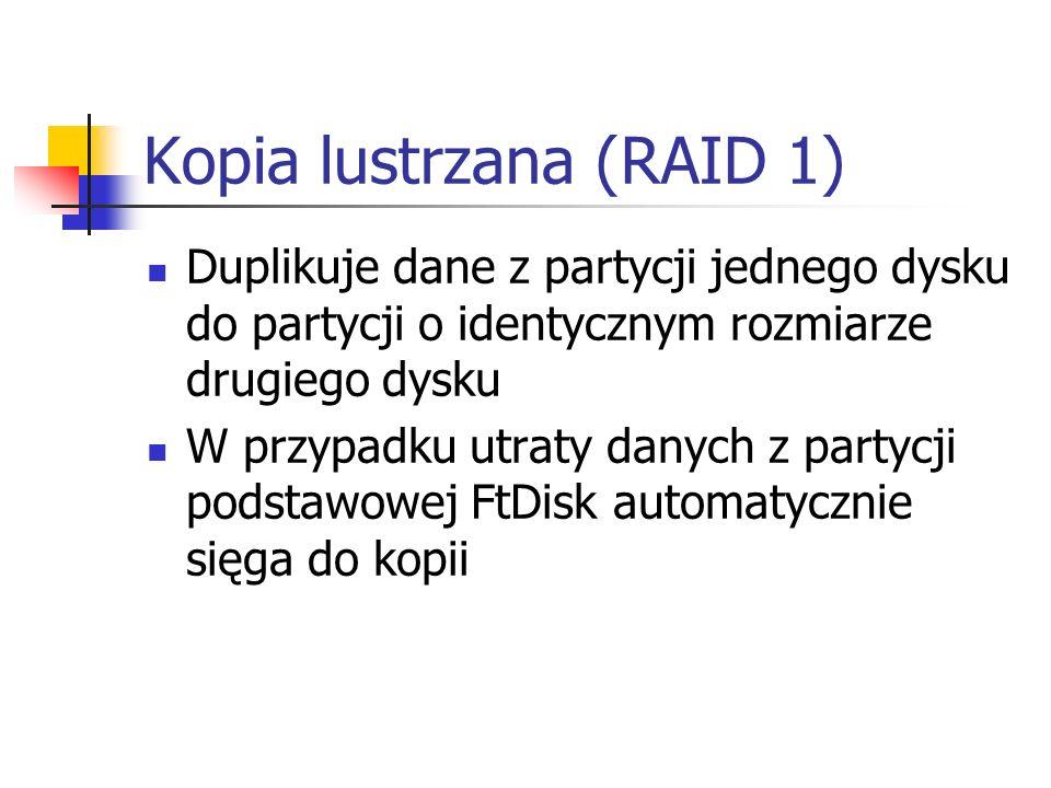 Kopia lustrzana (RAID 1)