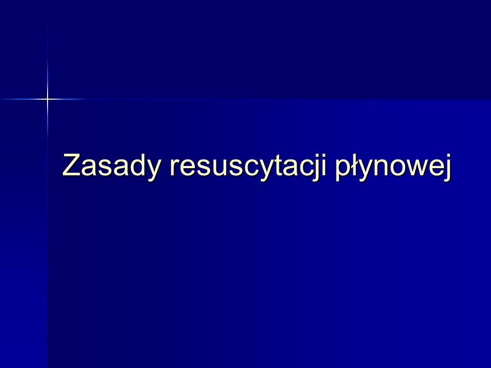 Zasady resuscytacji płynowej