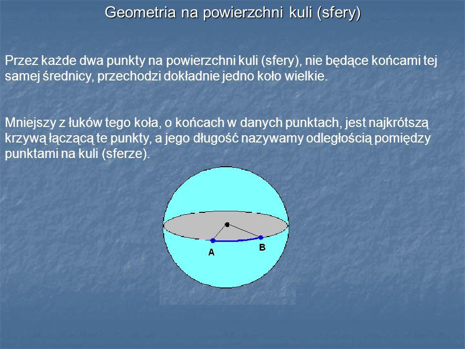 Geometria na powierzchni kuli (sfery)