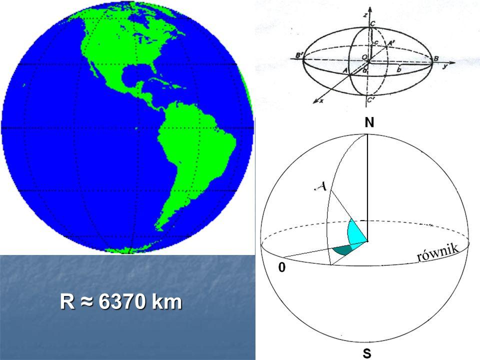 R ≈ 6370 km