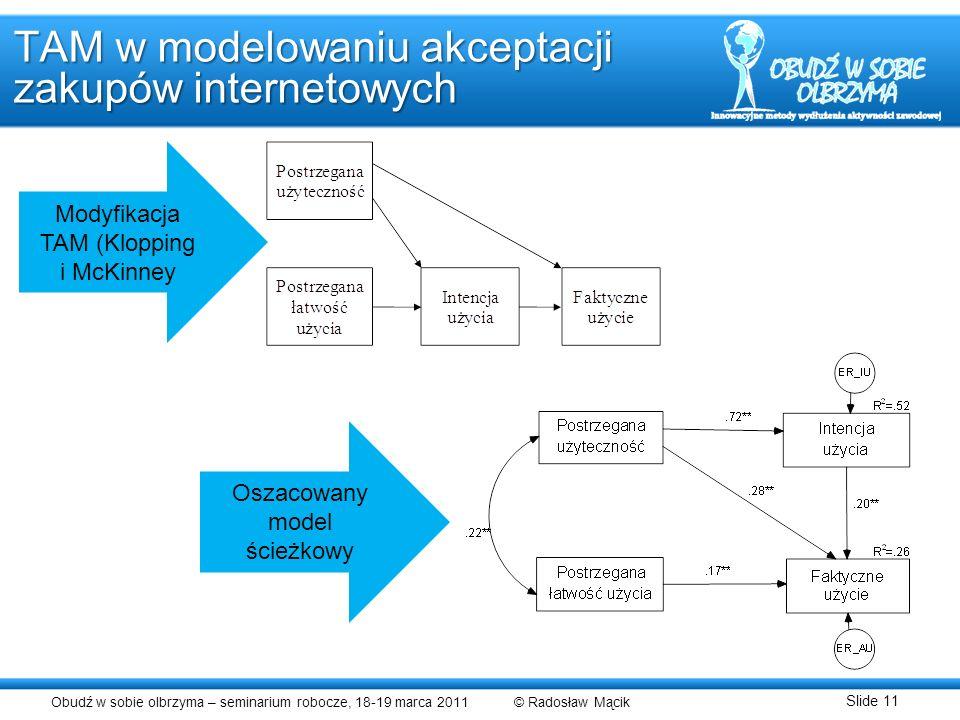 TAM w modelowaniu akceptacji zakupów internetowych