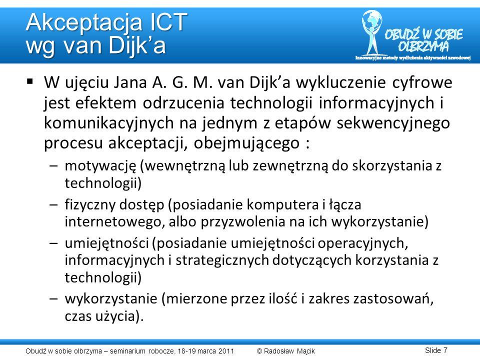 Akceptacja ICT wg van Dijk'a