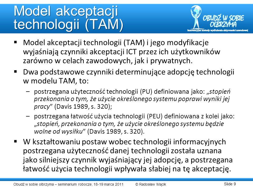Model akceptacji technologii (TAM)