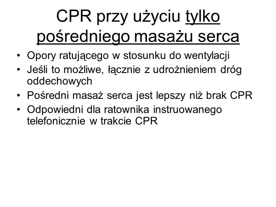 CPR przy użyciu tylko pośredniego masażu serca