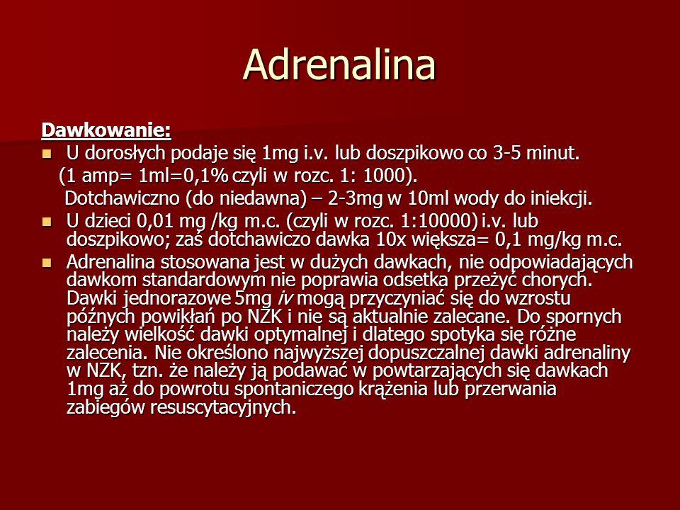 Adrenalina Dawkowanie: