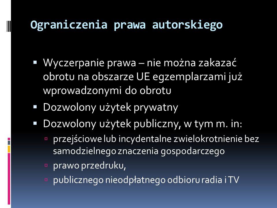 Ograniczenia prawa autorskiego