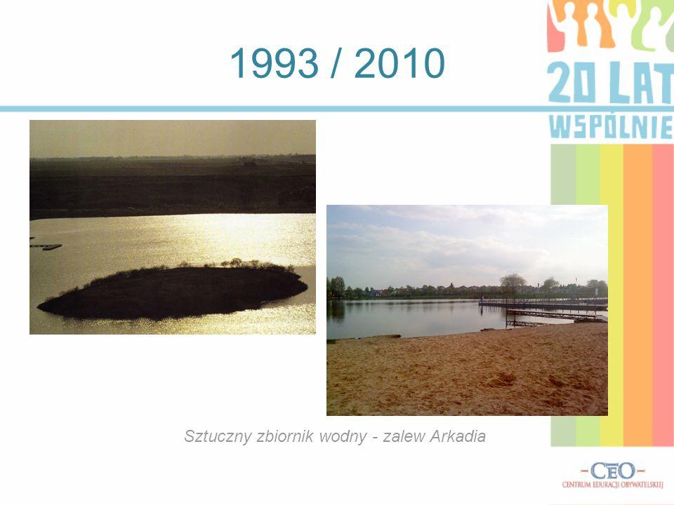 Sztuczny zbiornik wodny - zalew Arkadia