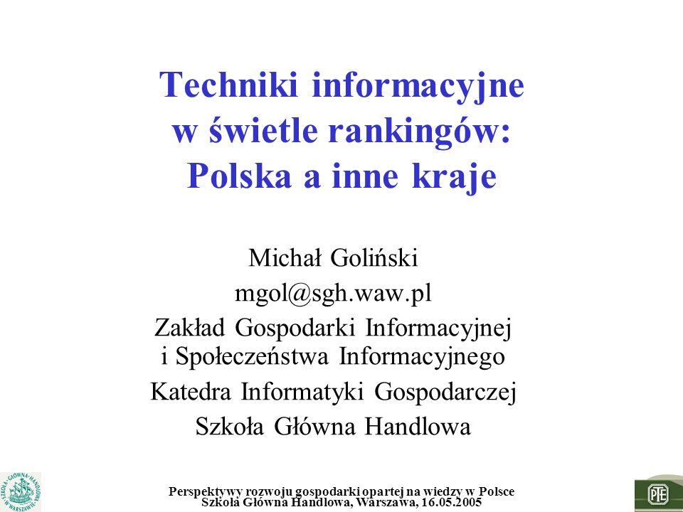 Techniki informacyjne w świetle rankingów: Polska a inne kraje