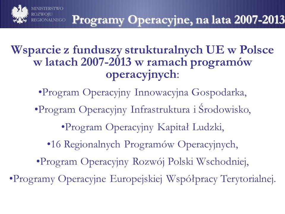 Programy Operacyjne, na lata 2007-2013