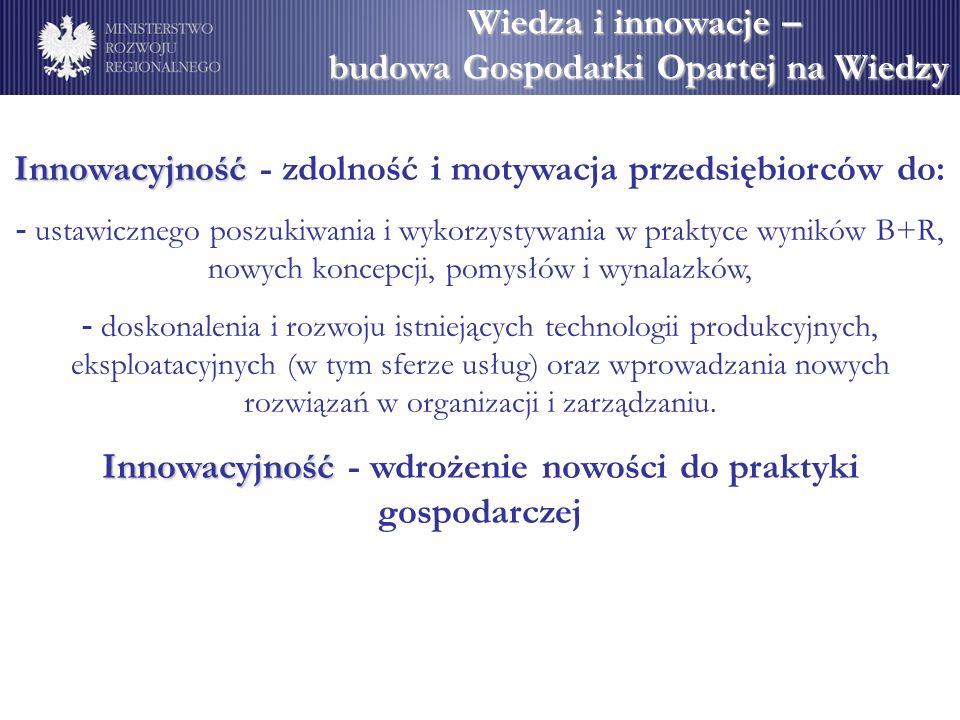 Wiedza i innowacje – budowa Gospodarki Opartej na Wiedzy