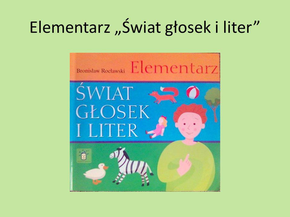 "Elementarz ""Świat głosek i liter"