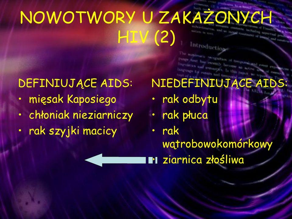 NOWOTWORY U ZAKAŻONYCH HIV (2)