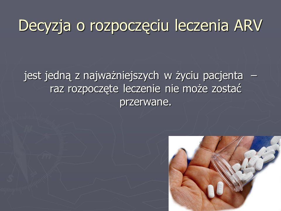 Decyzja o rozpoczęciu leczenia ARV