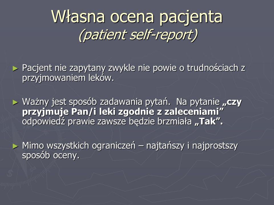 Własna ocena pacjenta (patient self-report)