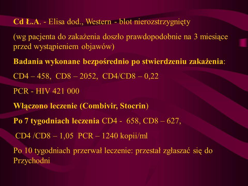 Cd Ł.A. - Elisa dod., Western - blot nierozstrzygnięty