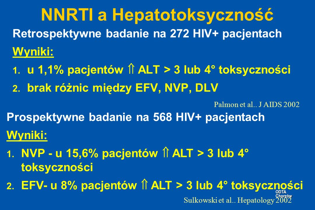 NNRTI a Hepatotoksyczność