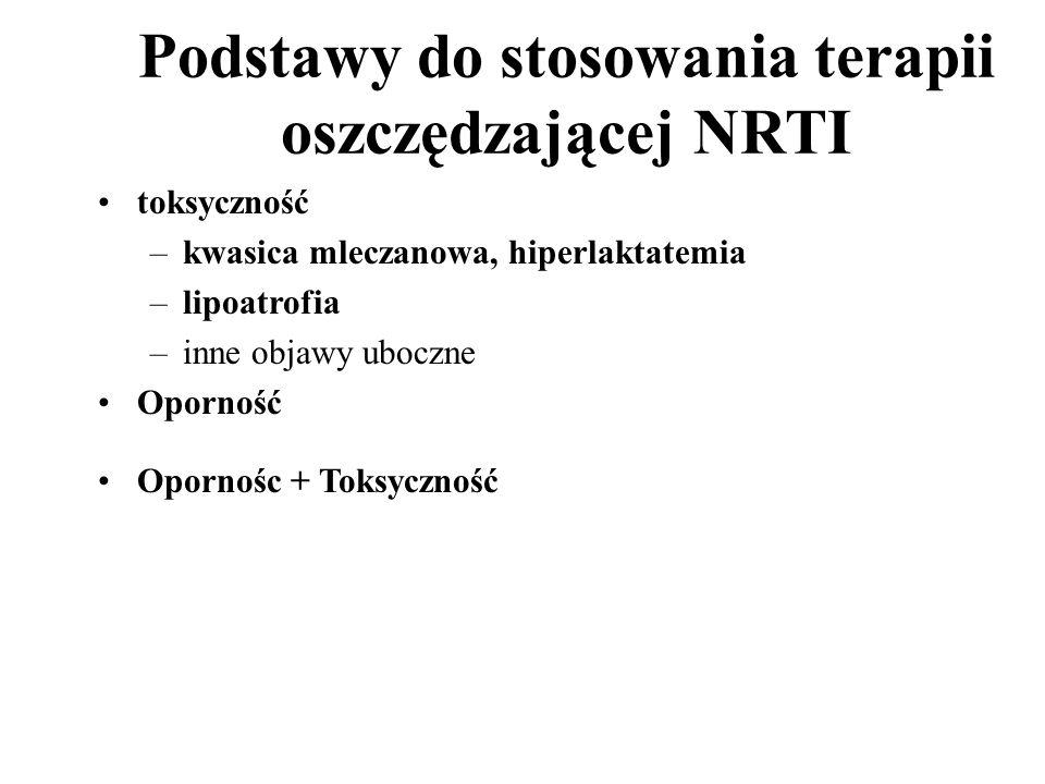Podstawy do stosowania terapii oszczędzającej NRTI