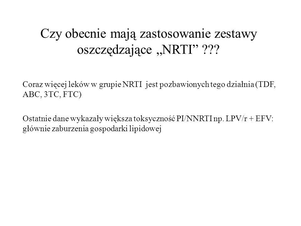 """Czy obecnie mają zastosowanie zestawy oszczędzające """"NRTI"""