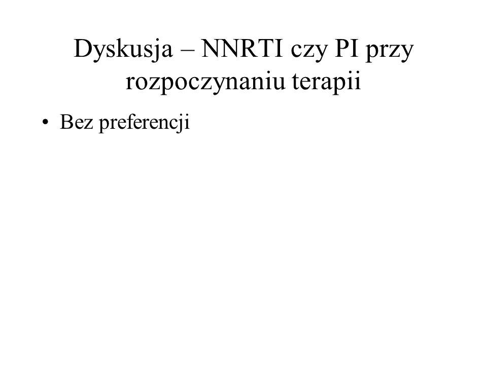 Dyskusja – NNRTI czy PI przy rozpoczynaniu terapii