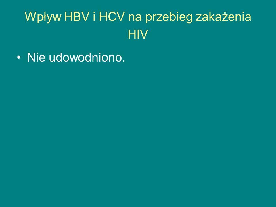Wpływ HBV i HCV na przebieg zakażenia HIV