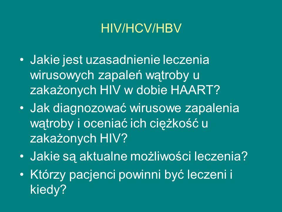 HIV/HCV/HBV Jakie jest uzasadnienie leczenia wirusowych zapaleń wątroby u zakażonych HIV w dobie HAART