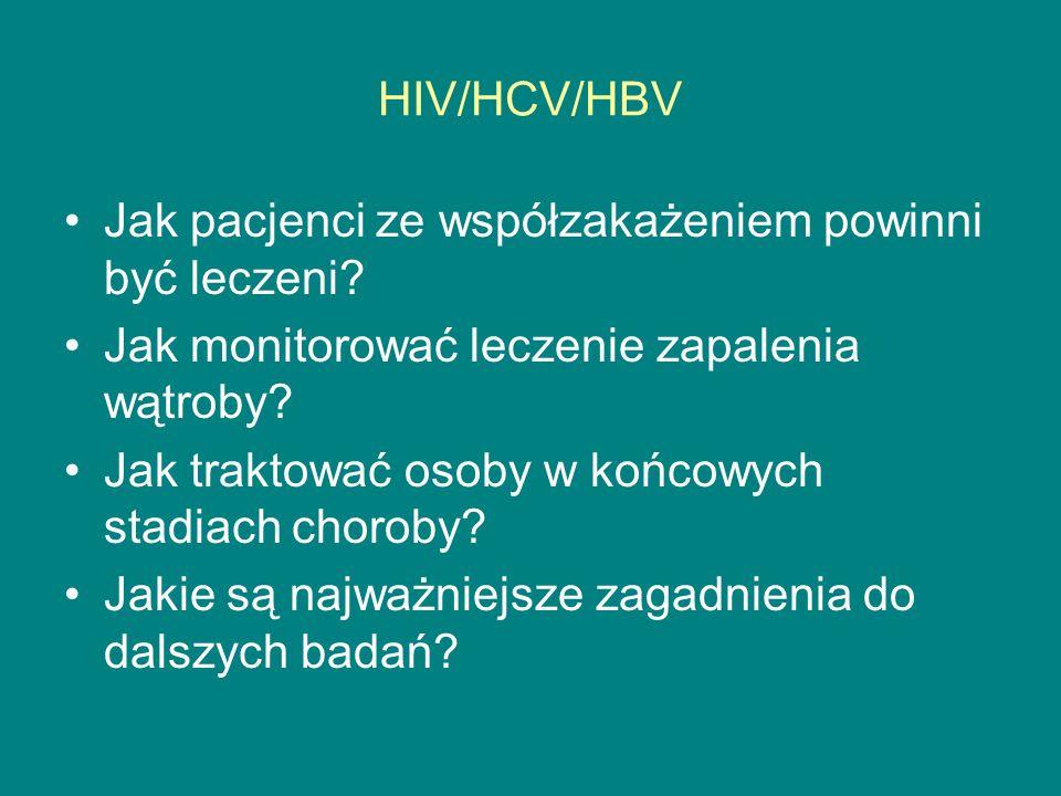 HIV/HCV/HBV Jak pacjenci ze współzakażeniem powinni być leczeni Jak monitorować leczenie zapalenia wątroby