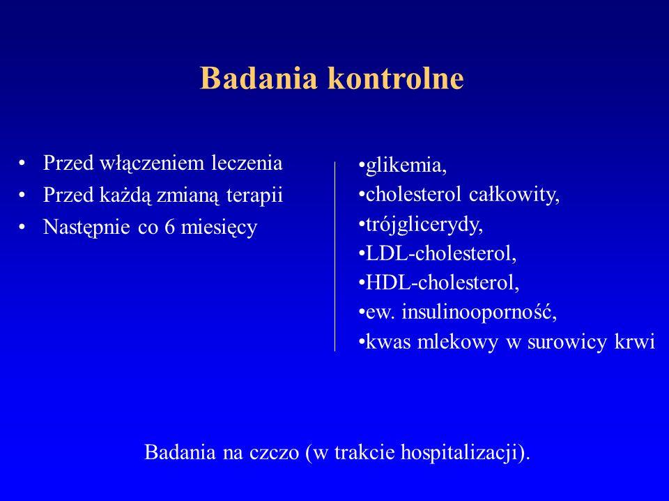 Badania na czczo (w trakcie hospitalizacji).