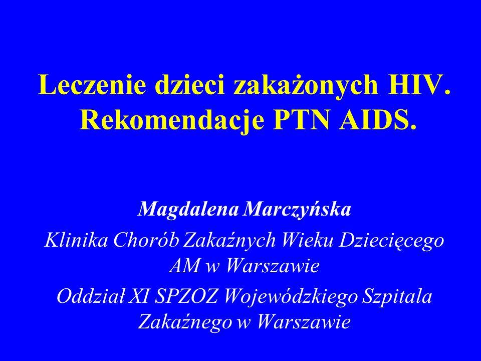 Leczenie dzieci zakażonych HIV. Rekomendacje PTN AIDS.