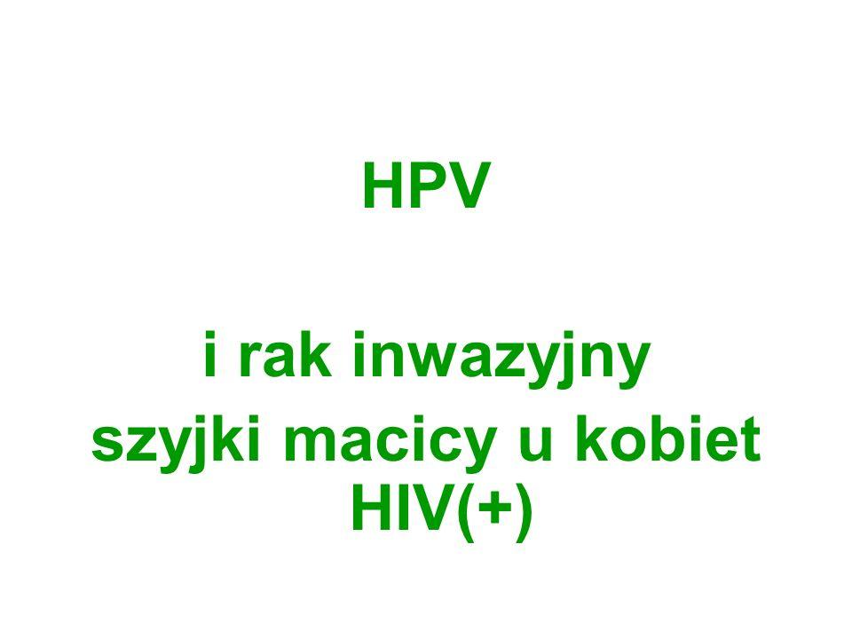 szyjki macicy u kobiet HIV(+)