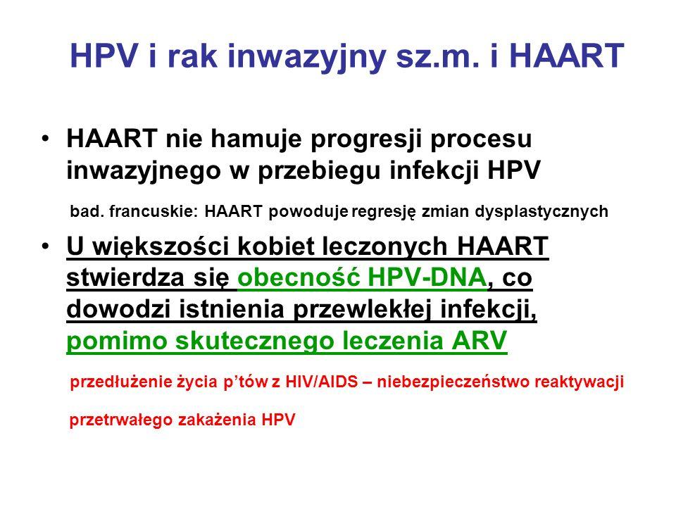 HPV i rak inwazyjny sz.m. i HAART