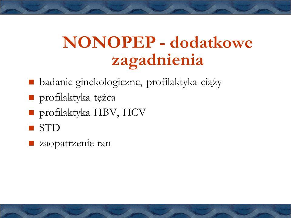 NONOPEP - dodatkowe zagadnienia