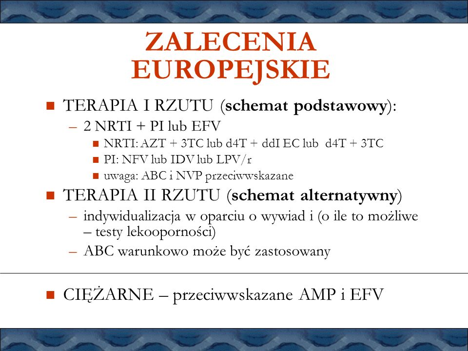 ZALECENIA EUROPEJSKIE