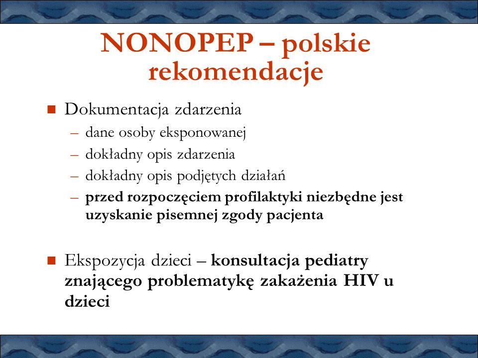 NONOPEP – polskie rekomendacje