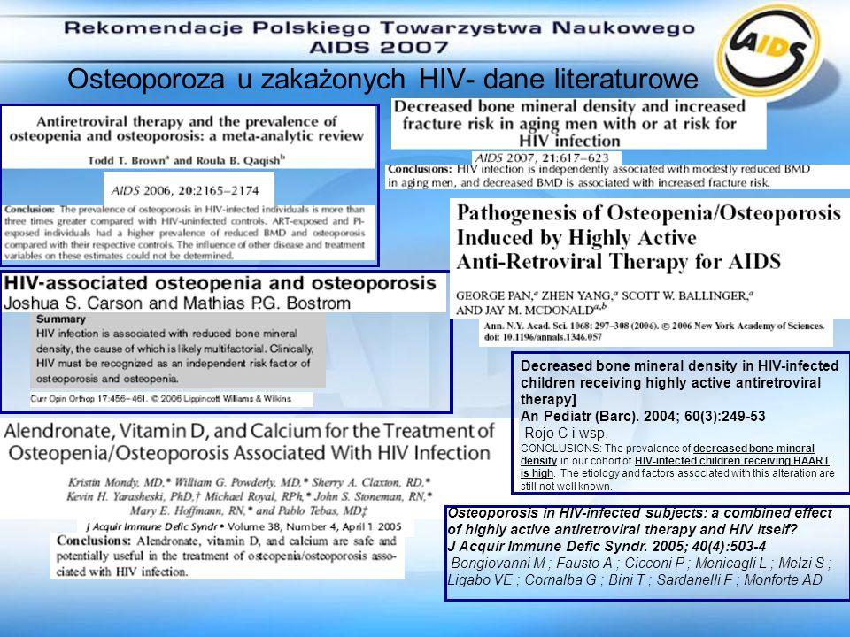 Osteoporoza u zakażonych HIV- dane literaturowe