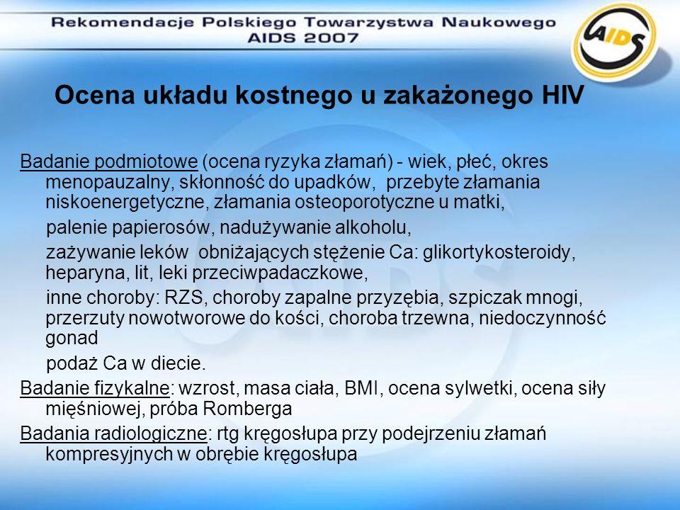 Ocena układu kostnego u zakażonego HIV
