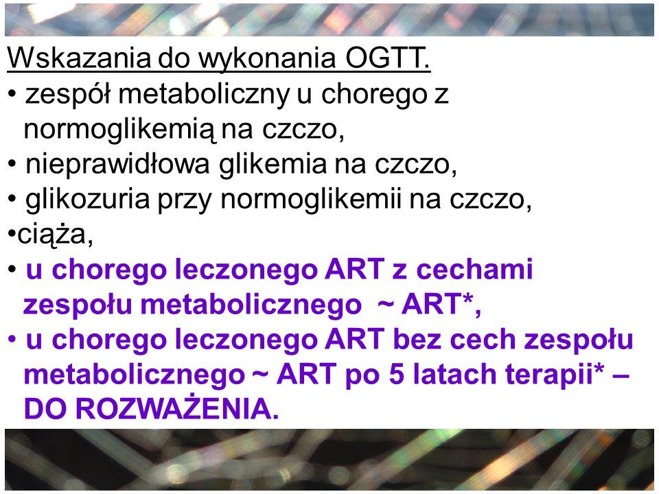 Wskazania do wykonania OGTT.