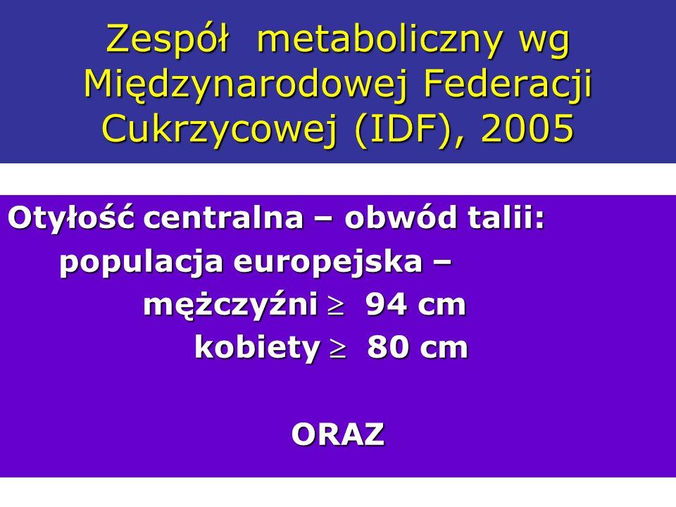 Zespół metaboliczny wg Międzynarodowej Federacji Cukrzycowej (IDF), 2005