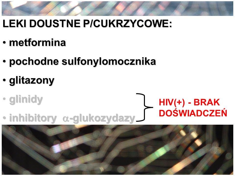 LEKI DOUSTNE P/CUKRZYCOWE: metformina pochodne sulfonylomocznika