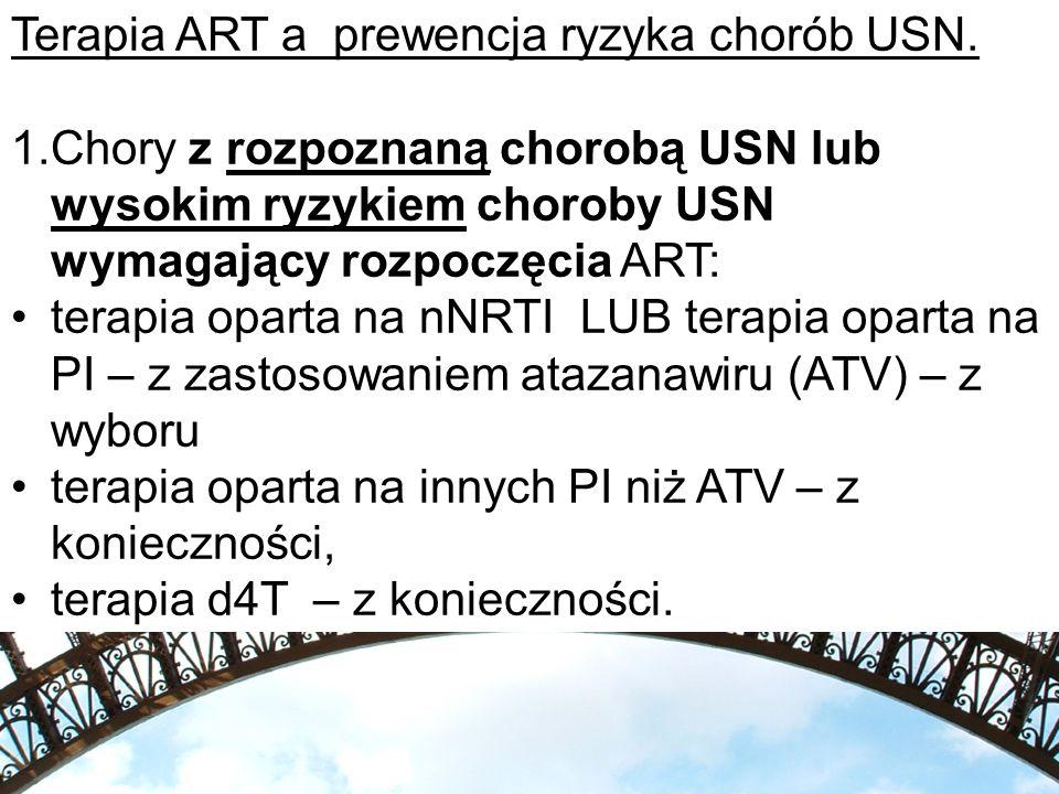 Terapia ART a prewencja ryzyka chorób USN.