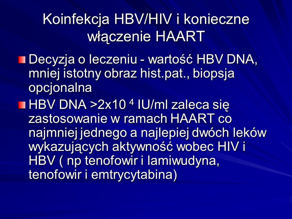 Koinfekcja HBV/HIV i konieczne włączenie HAART