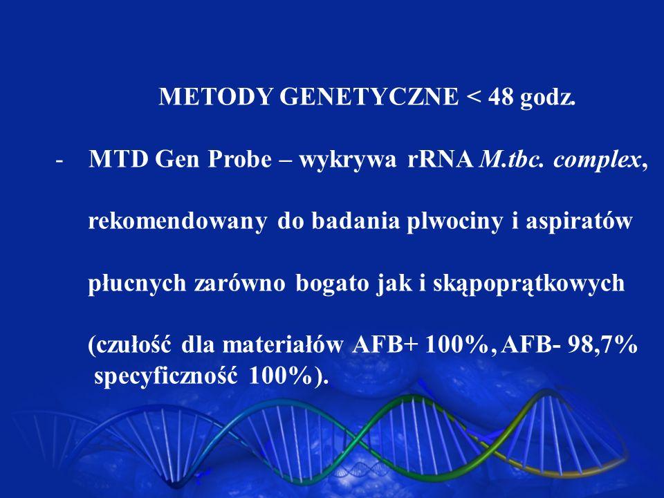 METODY GENETYCZNE < 48 godz.