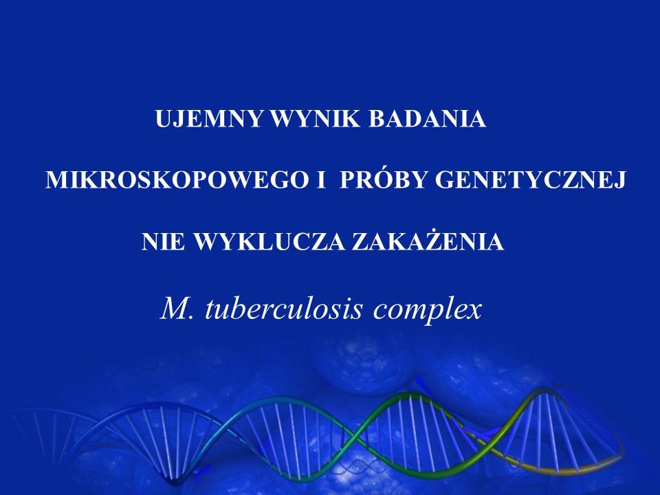 UJEMNY WYNIK BADANIAMIKROSKOPOWEGO I PRÓBY GENETYCZNEJ.