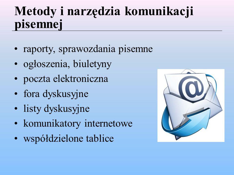 Metody i narzędzia komunikacji pisemnej