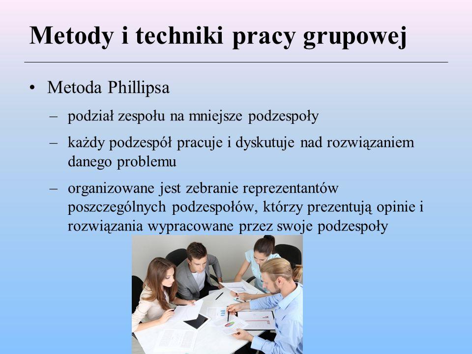 Metody i techniki pracy grupowej