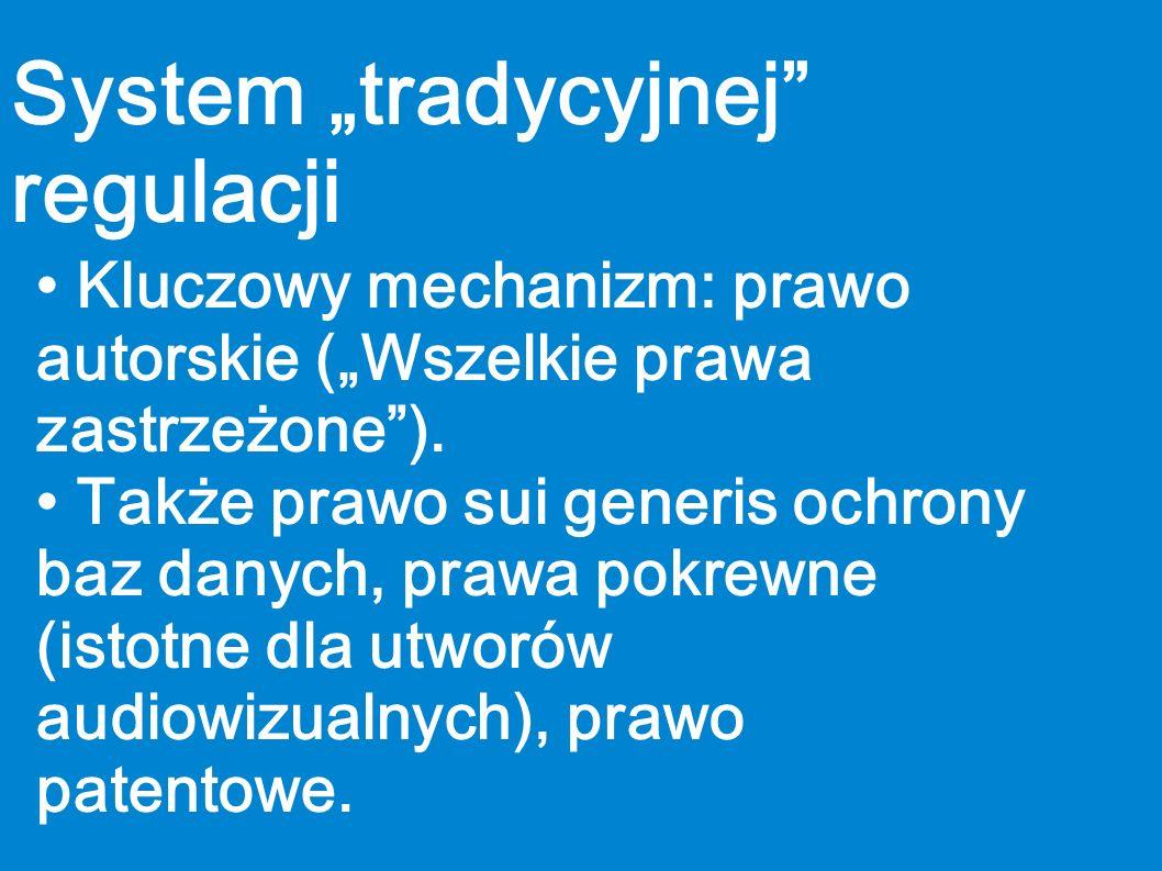 """System """"tradycyjnej regulacji"""