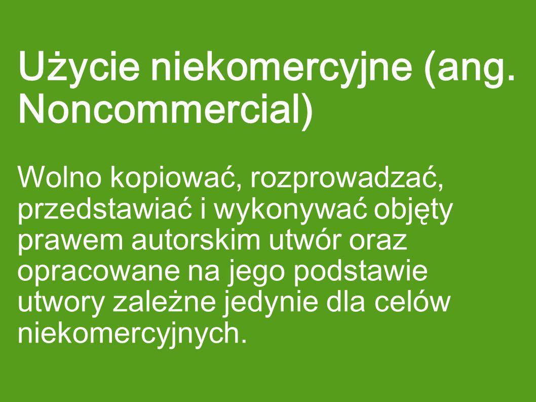 Użycie niekomercyjne (ang. Noncommercial)