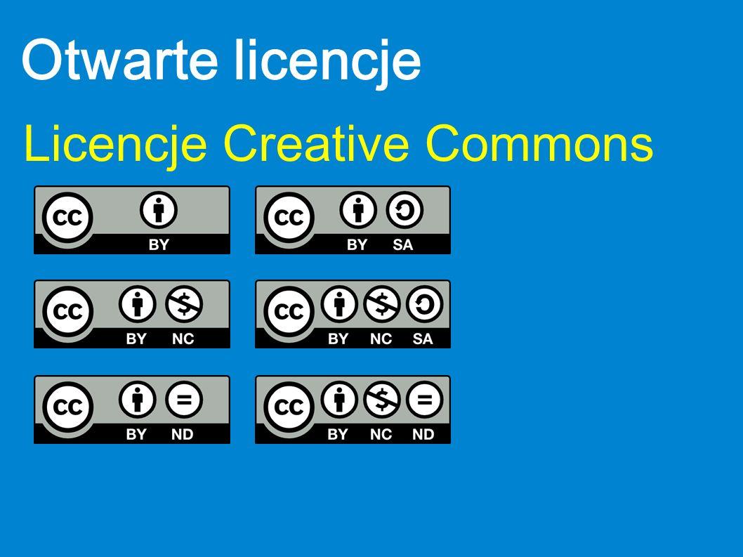 Otwarte licencje Licencje Creative Commons
