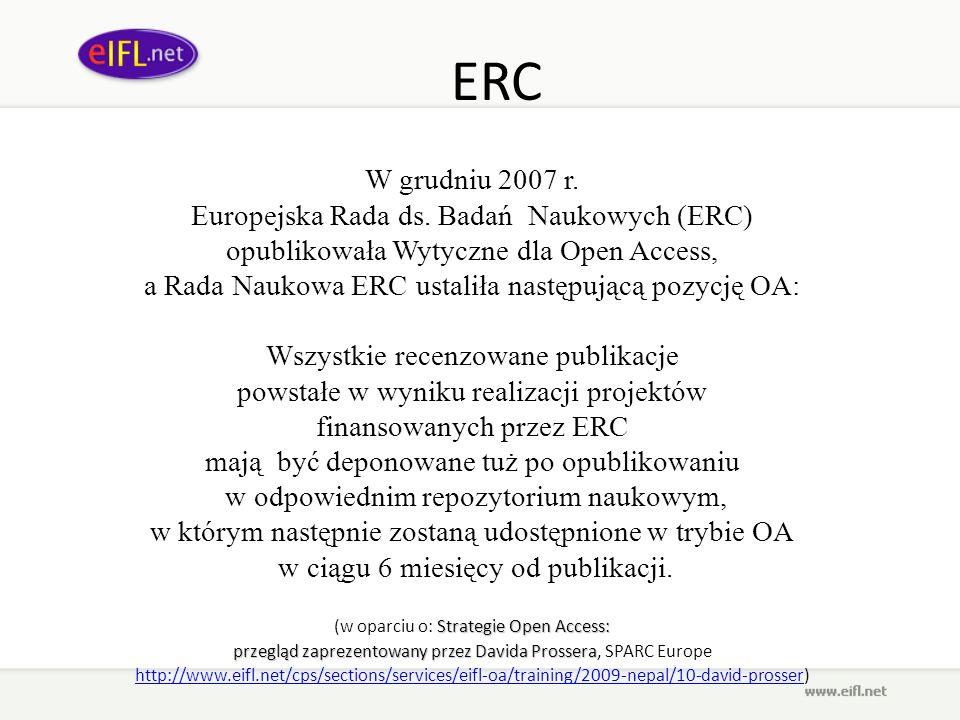 ERC W grudniu 2007 r. Europejska Rada ds. Badań Naukowych (ERC)