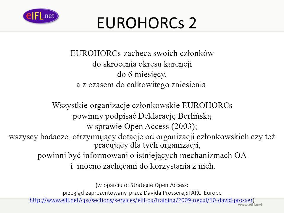 EUROHORCs 2 EUROHORCs zachęca swoich członków